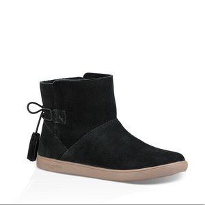 Uggs booties black suede new sz:10 winter comfy